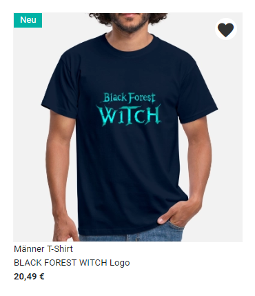 Black Forest Witch Men's T-Shirt