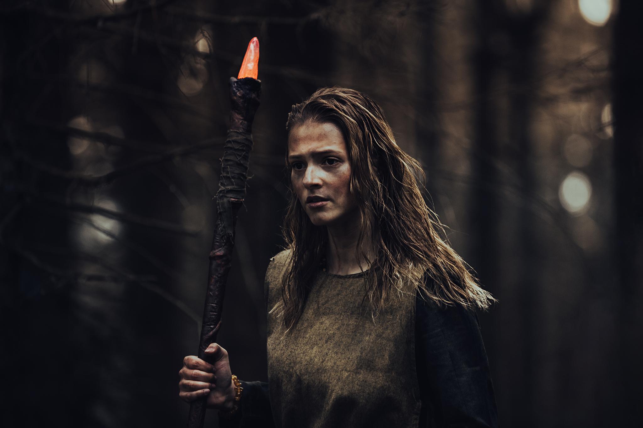 Lead actress Tamara Sedlmeir-Leutenstorfer as 'Lotte' in Black Forest Witch