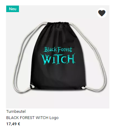 Black Forest Witch Gym Bag