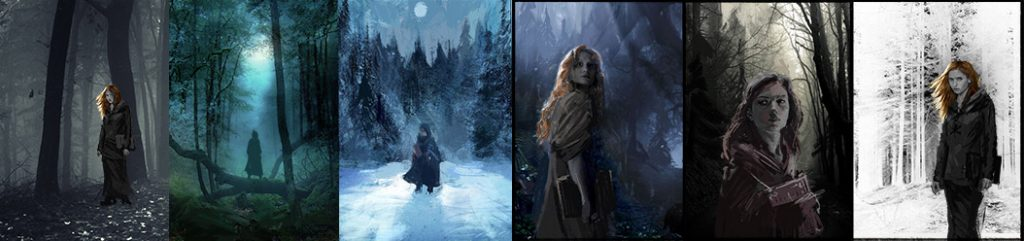 Early Sketches for the Black Forest Witch TV Show Poster